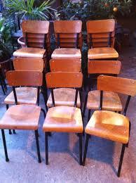 chaise mullca chaises d ecole mullca 511 assise bois et structure métal tables