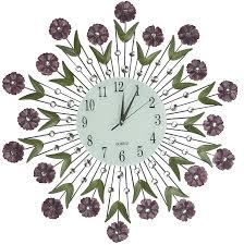 amazon com lulu decor flower burst wall clock 24