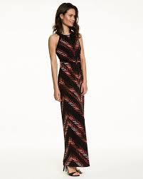 chevron maxi dress abstract print chevron maxi dress le château