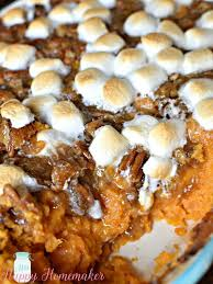 praline marshmallow sweet potato casserole mrs happy homemaker