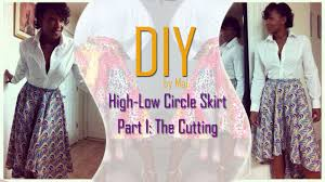 diy high low circle skirt part one cutting the skirt youtube