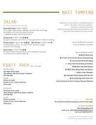 asia kitchen menu simpang asia restaurant catering