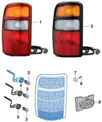 2000 chevy silverado tail light assembly tail light 2000 06 chevy tahoe suburban 2000 06 gmc yukon