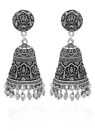 jhumka earrings buy silver jhumka earring jhumka online shopping abjai20833