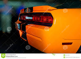 bright orange new american sports car stock images image 28757824