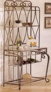 bakers rack with wine storage sosfund