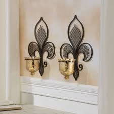 fleur de lis home decor 2 pieces metal filigree fleur de lis sconces candle throughout fleur
