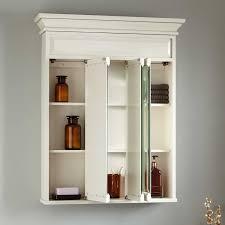 White Bathroom Medicine Cabinet Idea Tri View Medicine Cabinet 36 Misschon Antique White