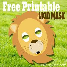printable lion masks template free lion mask lions and masking