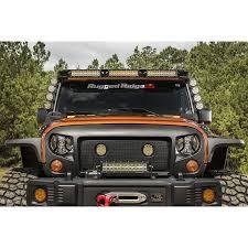 jeep light bar bumper rugged ridge 11232 50 elite fasttrack windshield light bar