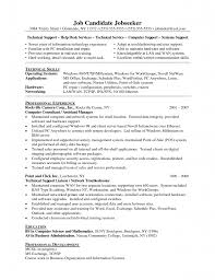 Desktop Support Sample Resume by Sales Technical Support Resume Entry Level Information Technology