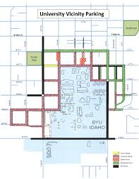 University Of Arizona Parking Map by Rexburg Police Department Information Parking And City