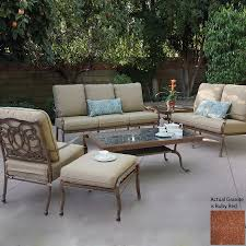 Mainstays Crossman 7 Piece Patio Dining Set Green Seats 6 - rst outdoor cantina 8 piece sofa with club chair and coral coast
