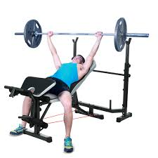 ancheer mid width weight bench arms height adjustable olympic