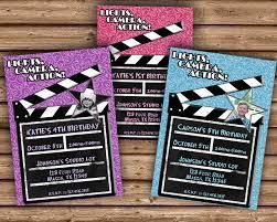 Hollywood Invitation Card Boy Or Hollywood Birthday Invitation U2014 Party Print Express