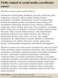 Social Media Resume Example by Top 8 Social Media Coordinator Resume Samples