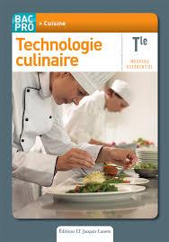 techno cuisine cours technologie culinaire tle bac pro cuisine pochette élève édition