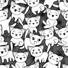 cute halloween cartoons seamless halloween kawaii cartoon pattern with cute cats u2014 stock