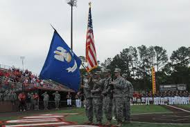Army Service Flag Ull Recognizes 256th Soldiers At Baseball Game U2013 Louisiana