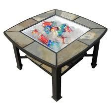 Fire Pit Coffee Table Leisurelife Rimini 4 In 1 Slate Coffee Table Cooler Fire Pit