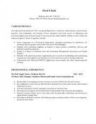sample career profile cover letter procurement specialist resume examples of procurement