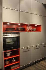 under cabinet led lighting puts the spotlight on the kitchen counter gray shade mixed with orange and led under cabinet lighting for cubbies sotrage