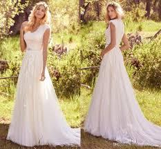 dh wedding dresses discount 2017 summer modest wedding dresses cap sleeves