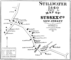 County Map Of Nj Historical Society Of Stillwater Township Content Society
