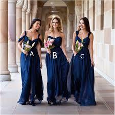 marine bridesmaid dresses pas cher sans manches bleu marine de demoiselle d honneur