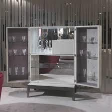 Metal Bar Cabinet Contemporary Bar Cabinet Walnut Metal Grandeur Y 745