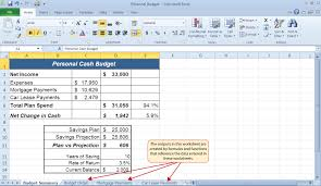 Budget Calculator Excel Spreadsheet How To Use Microsoft U0026 174 Excel U0026 174 The Careers In Practice