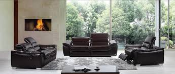 Leather Sofa And Recliner Set by Casa E9034 Modern Brown Italian Leather Sofa Set W Recliners