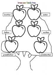 english teaching worksheets family tree