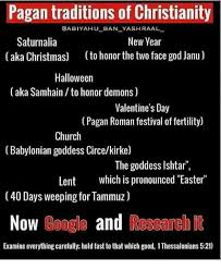 Pagan Easter Meme - pagan traditions of christianity aabiyahu ban yashraal saturnalia