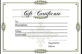 gift certificate templates free printable gift certificates for
