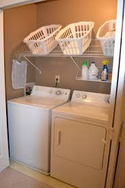 great laundry room with white washing machine combined slanted