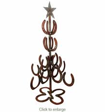 horseshoe christmas tree iron horseshoe christmas tree small