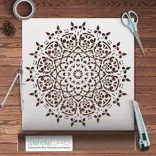 schablone wandgestaltung runde symmetrische mandala schablone dekorative wand schablone
