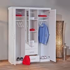 Schlafzimmer Kommode F Hemden Massivholz Kleiderschrank In Weiß Mit Spiegel Genf Betten De