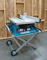 table saw with dado capacity makita 2705x1 10 inch contractor table saw with stand power table