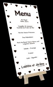 id e menu mariage menu mariage exemple idée et impression de porte menu