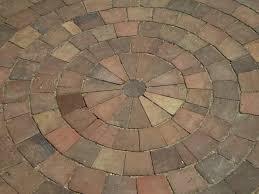 Brick Patio Pattern Maine Stonework Masonry Hardscaping Perennial Stone