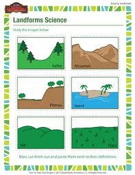 landforms science worksheet u2013 3rd grade science worksheet u2013
