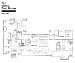 farmhouse house plan the maine farm house floor plan