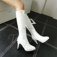 womens white knee high boots nz nz 170 womens boots toe stiletto heel rhinestone knee