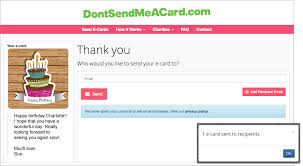 send birthday ecards and give to charity