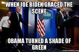 Obama Bill Clinton Meme - when joe biden graced the scene obama turned a shade of green