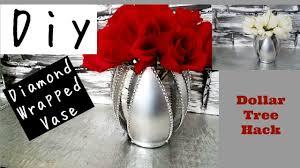 Bling Wrap For Vases Diy Diamond Wrap Dollar Tree Hack Youtube