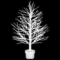 premier fibre optic white twig tree with leds 80cm trees