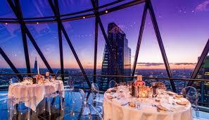 the gherkin wedding venues london